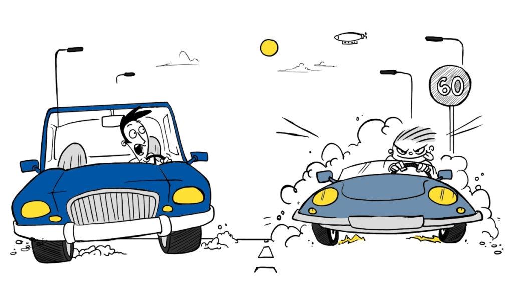 Дуэлянты на машине